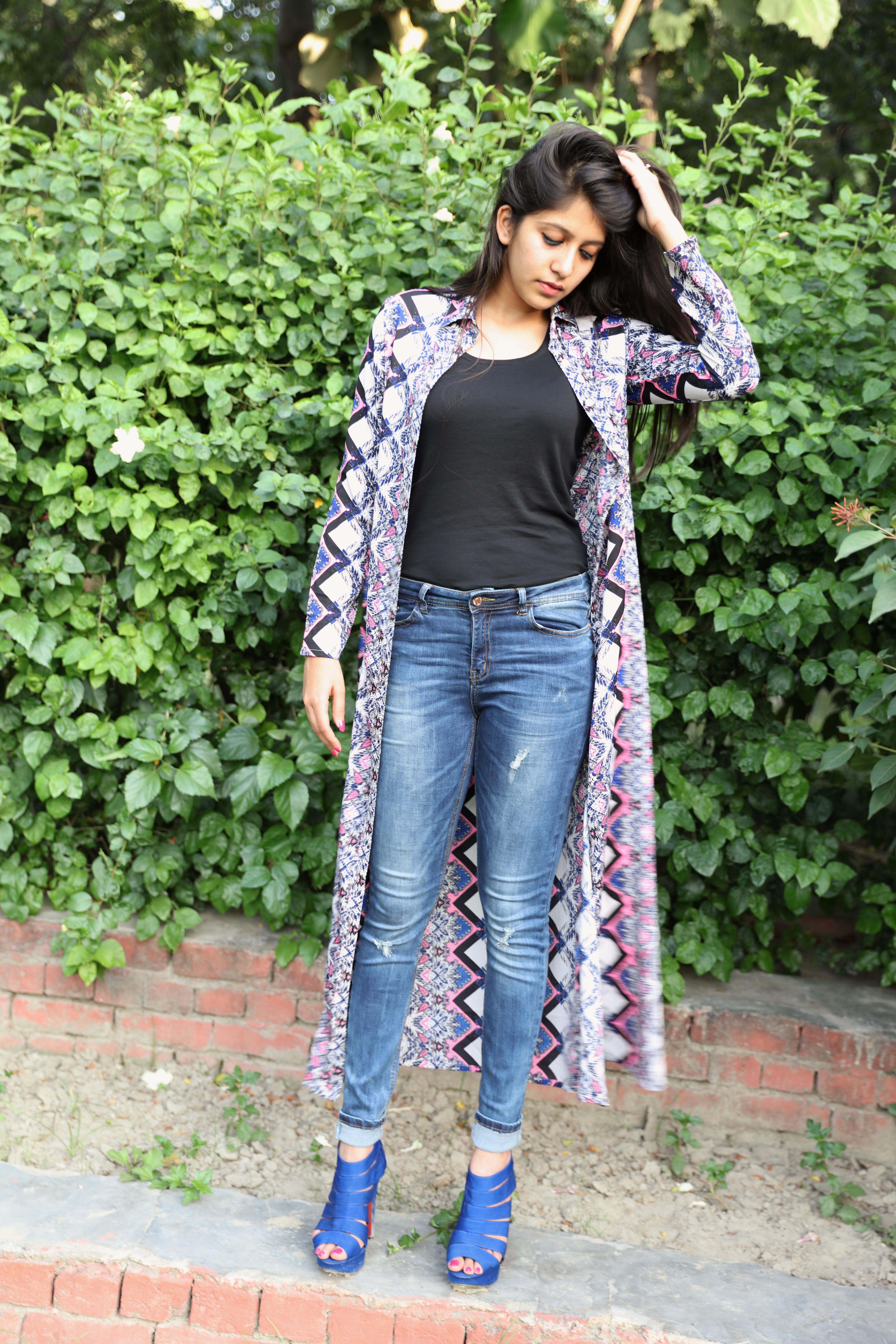 5274f1e6f Jeans: Vero Moda Black top: UCB Heels: Stelatoes, Lajpat Nagar